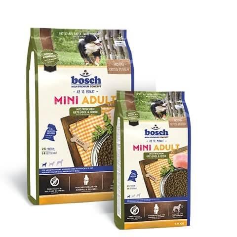 Bosch Hundefutter Mini Adult Geflügel und Hirse