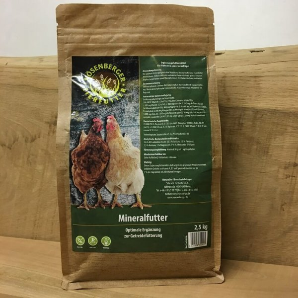 Mineralfutter für Geflügel