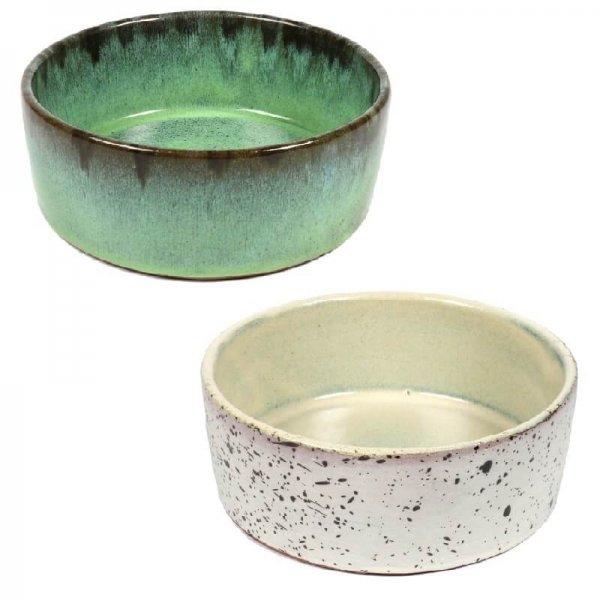Keramik Hundenapf in zwei Trendfarben